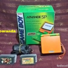 Videojuegos y Consolas: GAME BOY ADVANCE SP CUSTOMIZADA *LIME AND ORANGE* - MODELO 001.. Lote 192249202