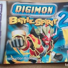 Videojuegos y Consolas: INSTRUCCIONES GAME BOY ADVANCE DIGIMON BATTLE SPIRIT 2. Lote 176724864