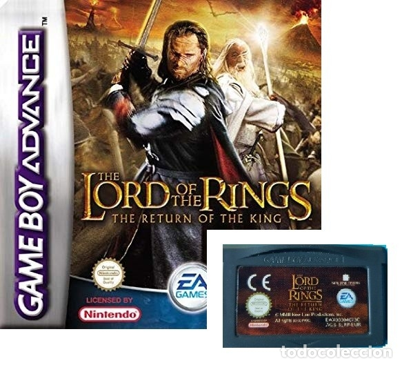 JUEGO NINTENDO GAME BOY ADVANCE - LORD OF THE RINGS THE RETURN OF THE KING - SIN CAJA SOLO EL JUEGO (Juguetes - Videojuegos y Consolas - Nintendo - GameBoy Advance)