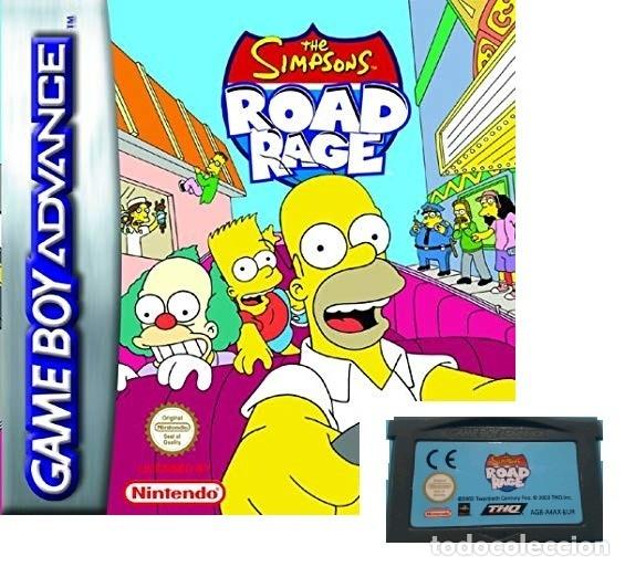 LOTE OFERTA JUEGO NINTENDO GAME BOY ADVANCE - THE SIMPSONS - ROAD RAGE - SIN CAJA SOLO EL JUEGO (Juguetes - Videojuegos y Consolas - Nintendo - GameBoy Advance)