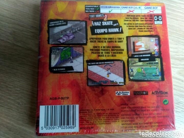 Videojuegos y Consolas: NINTENDO GAMEBOY ADVANCE JUEGO TONY HAWKS UNDERGROUND 2 NUEVO - Foto 2 - 182355931