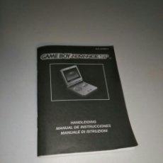 Videojuegos y Consolas: MANUAL INSTRUCCIONES GAME BOY ADVANCE SP NEDERLANDS - ESPAÑOL - ITALIANO. Lote 182917570