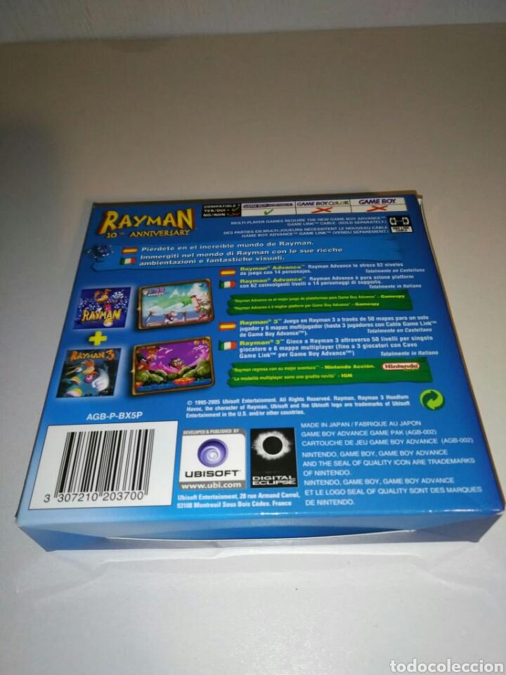 Videojuegos y Consolas: SÓLO CAJA + instrucciones - Rayman 10th Anniversary - Game Boy Advance - Foto 2 - 182917582