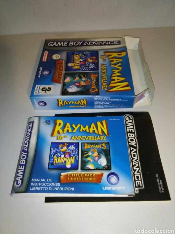 Videojuegos y Consolas: SÓLO CAJA + instrucciones - Rayman 10th Anniversary - Game Boy Advance - Foto 5 - 182917582