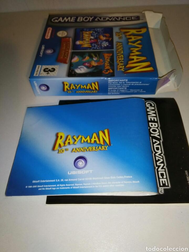 Videojuegos y Consolas: SÓLO CAJA + instrucciones - Rayman 10th Anniversary - Game Boy Advance - Foto 6 - 182917582