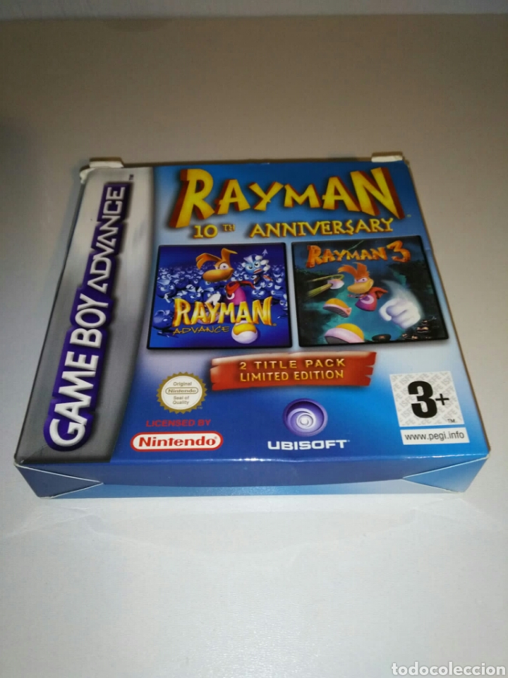 SÓLO CAJA + INSTRUCCIONES - RAYMAN 10TH ANNIVERSARY - GAME BOY ADVANCE (Juguetes - Videojuegos y Consolas - Nintendo - GameBoy Advance)