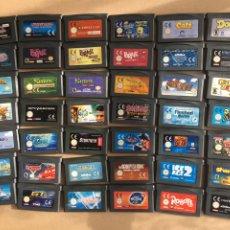 Videojuegos y Consolas: LOTE 42 JUEGOS DIFERENTES GBA - ORIGINALES GAME BOY ADVANCE NINTENDO - EUR, USA, UKV, ETC. Lote 184103095