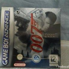 Videojuegos y Consolas: JUEGO GAME BOY ADVANCE 007. Lote 187299862
