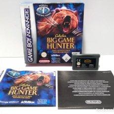 Videojuegos y Consolas: CABELA'S BIG GAME HUNTER NINTENDO GAME BOY ADVANCE. Lote 190850981