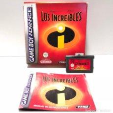Videojuegos y Consolas: LOS INCREÍBLES NINTENDO GAME BOY ADVANCE. Lote 190851118