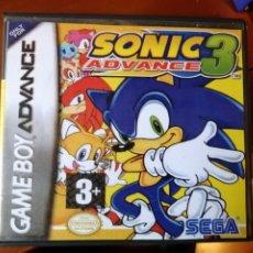Videojuegos y Consolas: JUEGO SONIC 3 ADVANCE PARA NINTENDO GAMEBOY ADVANCE. Lote 190909092