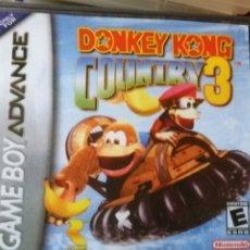 Videojuegos y Consolas: JUEGO DONKEY KONG COUNTRY 3 PARA NINTENDO GAMEBOY ADVANCE. Lote 191137851