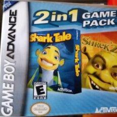 Videojuegos y Consolas: JUEGO 2 EN 1 : SHARK TALE Y SHREK 2 PARA NINTENDO GAMEBOY ADVANCE. Lote 191183613