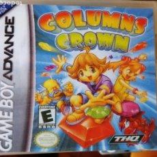 Videojuegos y Consolas: JUEGO COLUMNS CROWN PARA NINTENDO GAMEBOY ADVANCE. Lote 191209605