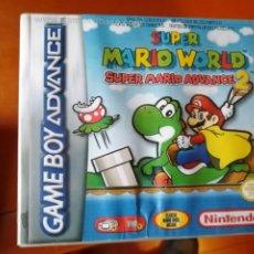 Videojuegos y Consolas: JUEGO SUPER MARIO WORLD SUPER MARIO ADVANCE 2 PARA NINTENDO GAMEBOY ADVANCE. Lote 191369185