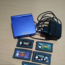 Videojuegos y Consolas: GBA SP AZUL+CARGADOR Y 5 JUEGOS.. Lote 194142032