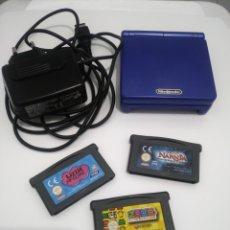 Videojuegos y Consolas: GBA SP AZUL+CARGADOR Y 3 JUEGOS.. Lote 194644440