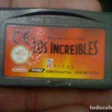Videojuegos y Consolas: INCREIBLES GBA GAMEBOY GAME BOY ADVANCE CARTUCHO FUNCIONANDO USADO LEER ORIGINAL. Lote 194720902
