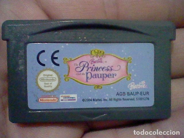 BARBIE PRINCESS PAUPER GBA GAMEBOY GAME BOY ADVANCE CARTUCHO FUNCIONANDO USADO LEER ORIGINAL (Juguetes - Videojuegos y Consolas - Nintendo - GameBoy Advance)