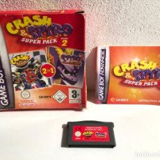 Videojuegos y Consolas: CRASH & SPYRO SUPER PACK VOL. 2 NINTENDO GAME BOY ADVANCE. Lote 194875691