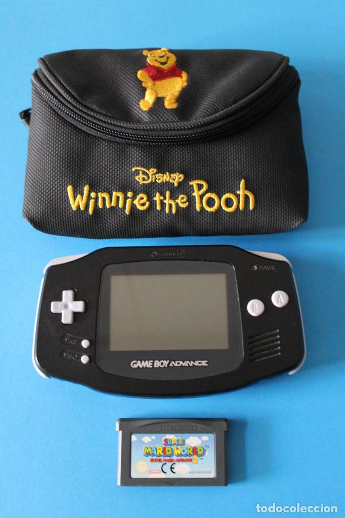 NINTENDO - CONSOLA GAME BOY ADVANCE NEGRA + FUNDA + JUEGO MARIO WORLD - GBA (Juguetes - Videojuegos y Consolas - Nintendo - GameBoy Advance)