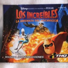 Videojuegos y Consolas: MANUAL DE INSTRUCCIONES JUEGO LOS INCREIBLES GAME BOY ADVANCE LA AMENAZA DEL SOCAVADOR. Lote 199804116