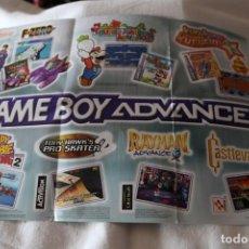 Videojuegos y Consolas: FOLLETO NINTENDO GAME BOY ADVANCE 2001 PUBLICIDAD NUEVO DE CAJA GAME LINK CABLE. Lote 247800375