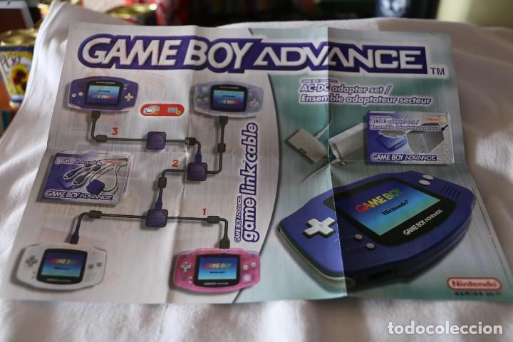 Videojuegos y Consolas: Folleto Nintendo Game Boy Advance 2001 publicidad nuevo de caja game link cable - Foto 2 - 247800375