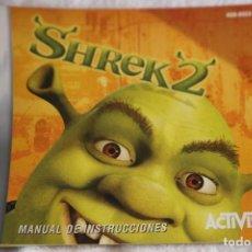 Videojuegos y Consolas: MANUAL DE INSTRUCCIONES JUEGO GAME BOY GAMEBOY ADVANCE NINTENDO SHREK 2. Lote 199807371