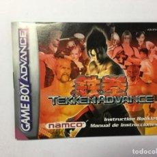 Videojuegos y Consolas: MANUAL INSTRUCCIONES GAME BOY ADVANCE TEKKEN. Lote 205177470