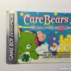 Videojuegos y Consolas: MANUAL INSTRUCCIONES GAME BOY ADVANCE CARE BEARS CARE QUEST. Lote 205177631