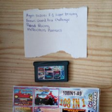 Videojuegos y Consolas: JUEGO GAME BOY ADVANCE 108 EN 1 - AGURI SUZUKI+FERRARI GRAND PRIX+ROAD RACING+MOTOCROSS MANIACS. Lote 205395772
