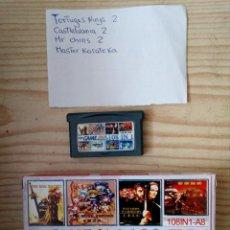 Videojuegos y Consolas: JUEGO GAME BOY ADVANCE 108 EN 1 - TORTUGAS NINJA+CASTLEVANIA+MR CHINS+MASTER KARATEKA. Lote 205395872