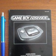 Videojuegos y Consolas: MANUEL CONSOLA GAME BOY ADVANCE. Lote 207683816