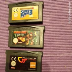 Videojuegos y Consolas: LOTE CARTUCHOS GAME BOY ADVANCE SUPER MARIO 3 DONKEY KONG Y GT GRAN TURISMO. Lote 208424622