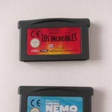 Videojuegos y Consolas: BUSCANDO A NEMO + LOS INCREIBLES - GAMEBOY ADVANCE. Lote 208994825