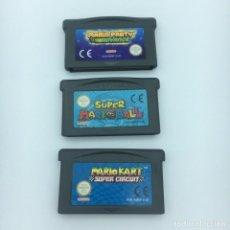 Videojuegos y Consolas: LOTE 3 JUEGOS GBA - MARIO KART, MARIO PARTY + MARIO BALL - PAL EUR GAMEBOY ADVANCE EN CASTELLANO. Lote 210752436