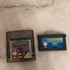 Videojuegos y Consolas: JUEGOS GAMEBOY COLOR Y ADVANCE SHREK. Lote 210955522