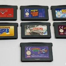Videojuegos y Consolas: 7 JUEGOS GAME BOY ADVANCE SONIC RALLY BATTLE MARIO VS DONKEY KONG CARS COLUMNS CROWN SUPER MARIO 3. Lote 214021277