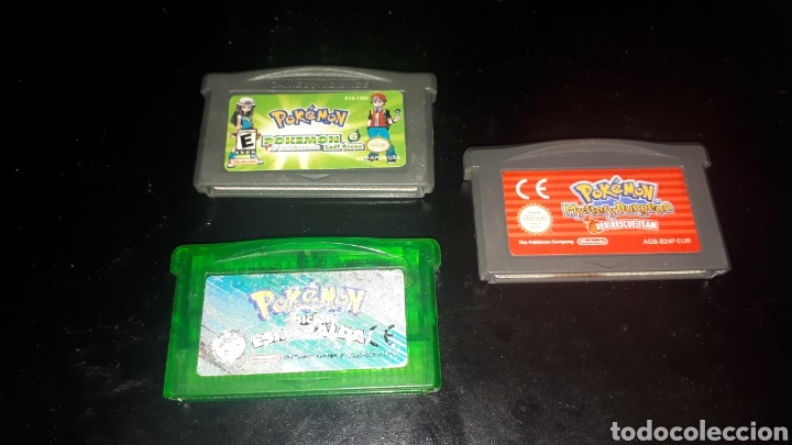 LOTE 3 JUEGOS GAMEBOY ADVANCE POKEMON ESMERALDA MYSTERY DUNGEON Y LEAF GREEN (Juguetes - Videojuegos y Consolas - Nintendo - GameBoy Advance)