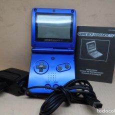 Videojuegos y Consolas: CONSOLA GAME BOY ADVANCE AZUL AGS-001 + MANUAL. Lote 218300110