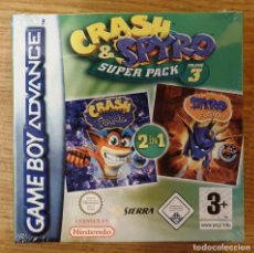 Videojuegos y Consolas: NINTENDO GAME BOY GAMEBOY ADVANCE CRASH & SPYRO SUPER PACK VOL 3. PAL. NUEVO PRECINTADO. Lote 223782725