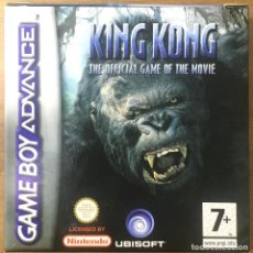 Videojuegos y Consolas: GAMEBOY ADVENCE - KING KONG THE OFFICIAL GAME OF THE MOVIE. Lote 228956235