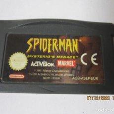 Videojuegos y Consolas: SPIDER-MAN MYSTERIO'S MENACE JUEGO PARA NINTENDO GAMEBOY ADVANCE GBA GAME BOY SPIDERMAN. Lote 232149675