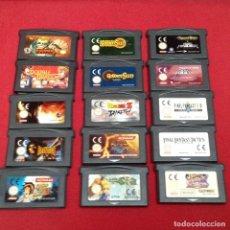 Videojuegos y Consolas: JUEGOS GAME BOY ADVANCE 15 UNIDADES. Lote 233995810