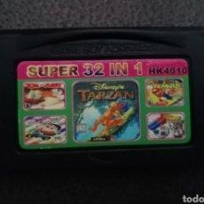 Videojuegos y Consolas: CARTUCHO 32 EN 1 NINTENDO GAME BOY ADVANCE DS NDS - TARZAN DR. MARIO TENNIS FLIPULL.... Lote 235869970