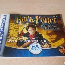 Videojuegos y Consolas: MANUAL HARRY POTTER Y LA CAMARA SECRETA.GAMEBOY ADVANCE.. Lote 238758465