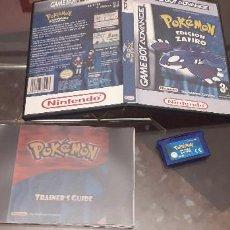 Videojuegos y Consolas: 08-00291 GAME BOY ADVANCE - POKEMON EDICION ZAFIRO. Lote 196121482