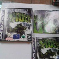 Videojuegos y Consolas: THE INCREDIBLE HULK. EL INCREIBLE HULK. GAMEBOY ADVANCE. Lote 260725330
