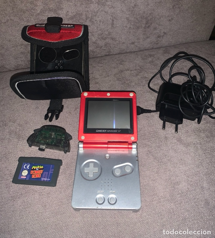 NINTENDO GAME BOY ADVANCE SP CON JUEGO INCLUIDO, CARGADOR Y FUNDA FUNCIONA PERFECTAMENTE (Juguetes - Videojuegos y Consolas - Nintendo - GameBoy Advance)